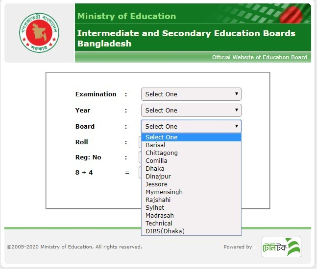Then select your education board name