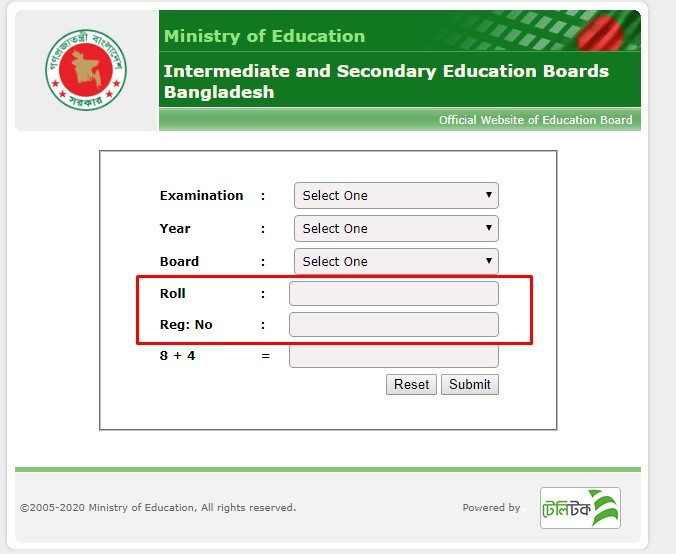 write your roll and registration number