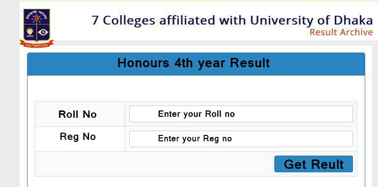 DU 7 College Honours 4th Year Result