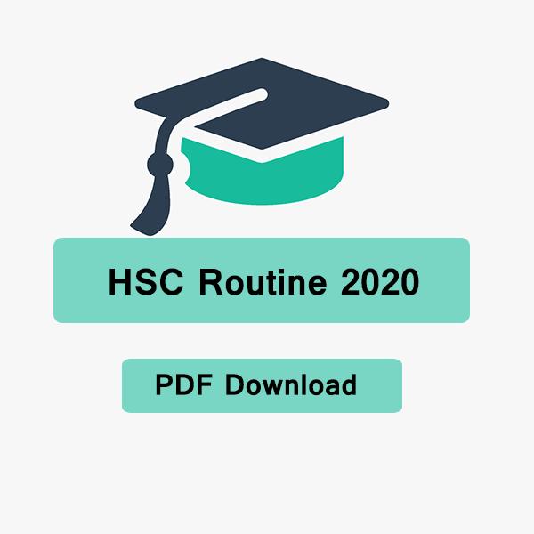 HSC Routine 2020 PDF [নতুন HSC রুটিন] Update News