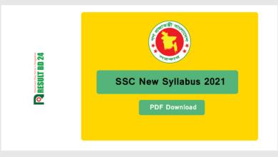 SSC Syllabus 2021
