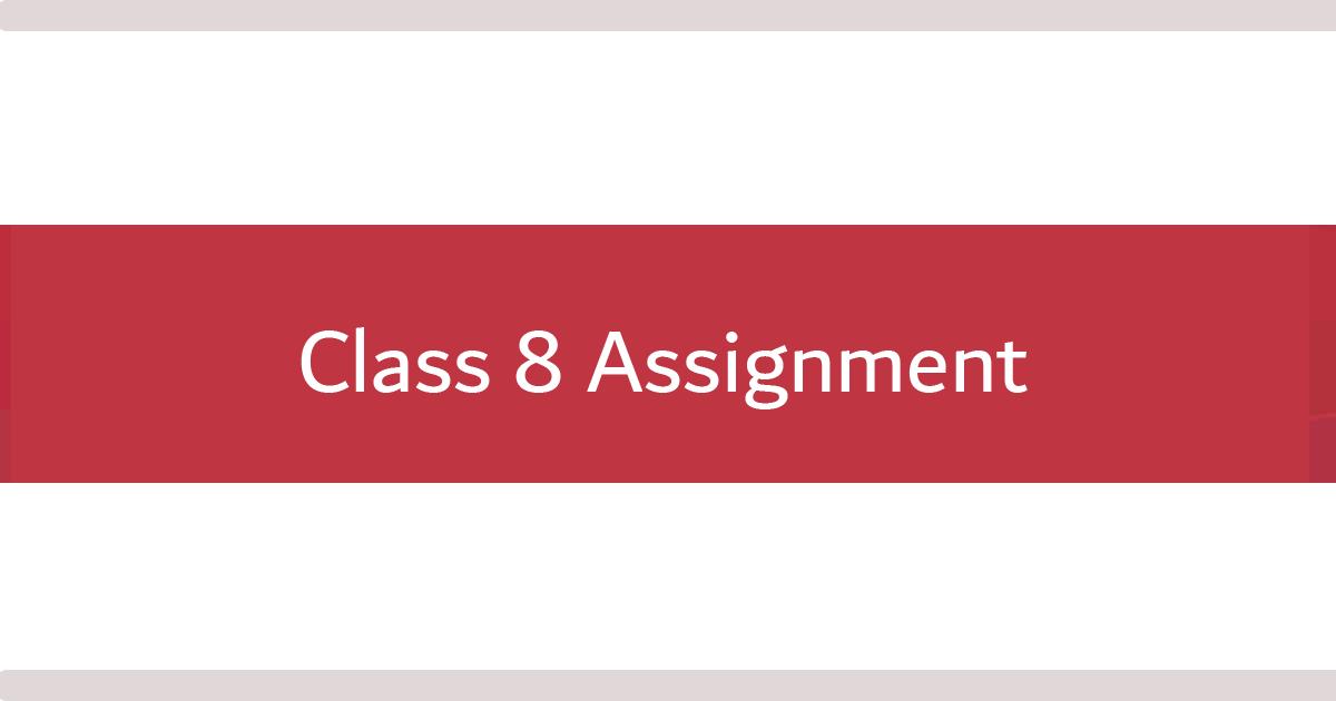 class 8