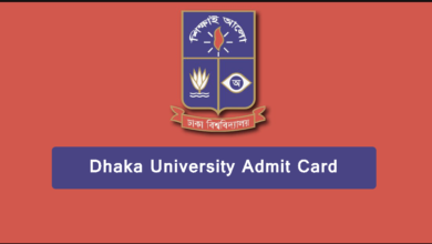 dhaka university admit card